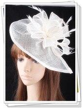 Envío libre niza sombreros fascinators sinamay sombreros mujeres accesorios para el cabello de lujo para la boda nupcial headwear y carreras OF1539