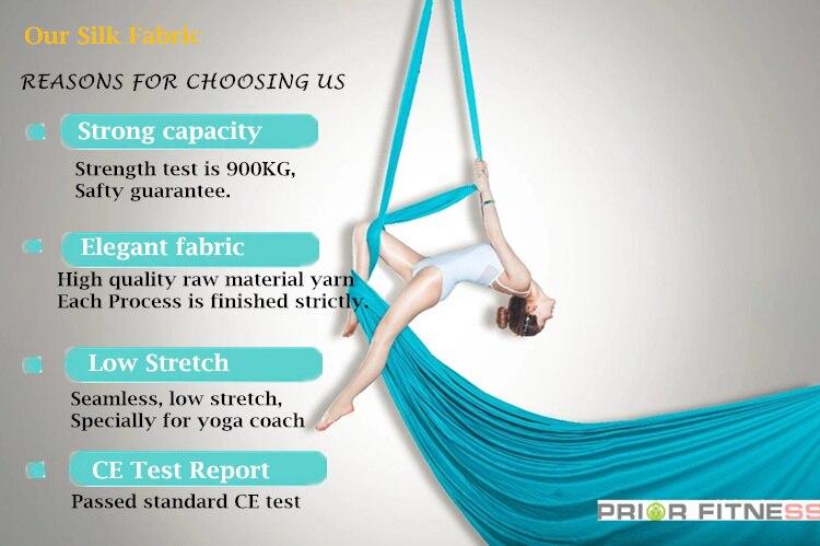 ioga, sedas de tecido para voar acroubático,