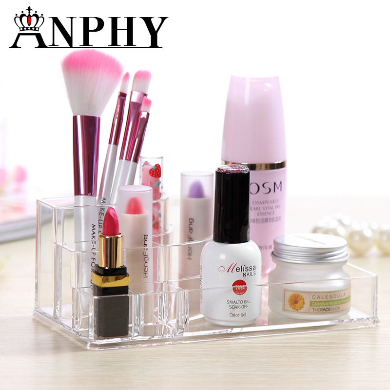 Transparent Lipstick Lip Gloss Rack Storage Box Cosmetics Organizer Clear Acrylic Makeup Organizer Holder Multiple Display C19