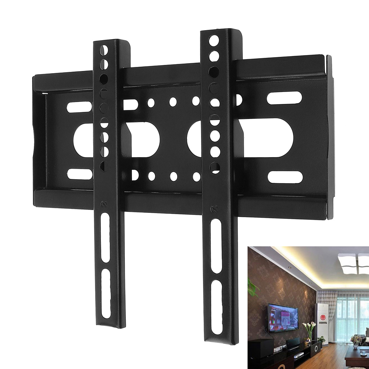 Universal 25KG TV Wall Mount Bracket Fixed Flat Panel Plasma TV Frame Stand for 14-42 Inch LCD LED Monitor Holder