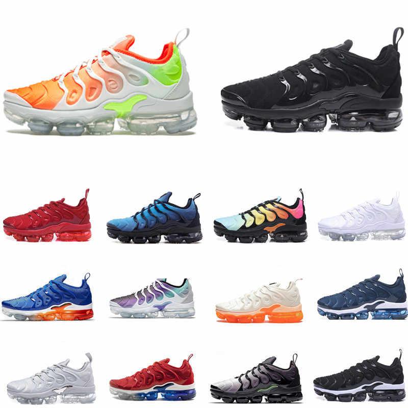 low priced ec906 fea23 TN PLUS Running Shoes Men Women Designer Sport Sneakers Trainers Hyper Blue  Rainbow Triple Black White