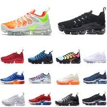2920f1ab10887 TN PLUS Running Shoes Men Women Designer Sport Sneakers Trainers Hyper Blue  Rainbow Triple Black White Sunset Blue Grey 36-45