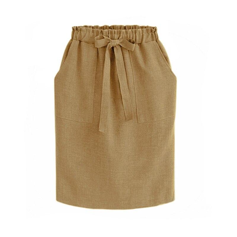 Φούστα μίντι ψηλόμεση με ελαστικό ζωνάκι msow