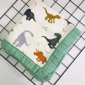 Image 1 - ใหม่Muslin Quiltสี่ชั้นไม้ไผ่Muslinผ้าห่มSwaddleดีกว่าAden Anaisเด็ก/ผ้าห่มเด็กทารก