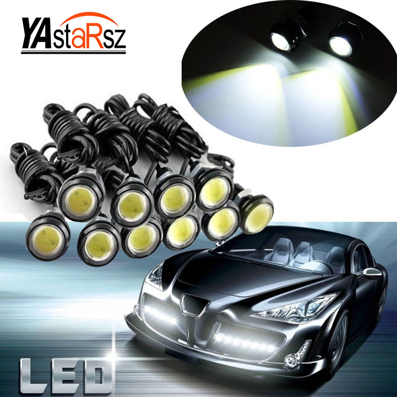 1pcs 18MM Car Led Eagle Eye DRL Daytime Running Lights Source Backup Reversing Parking Signal Lamps Waterproof Free Shipping new arrival a pair 10w pure white 5630 3 smd led eagle eye lamp car back up daytime running fog light bulb 120lumen 18mm dc12v