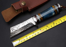 Fine Handmade Forging Damascus Fixed Knives,Collection Camping Survival Knife,Hunting Knife.