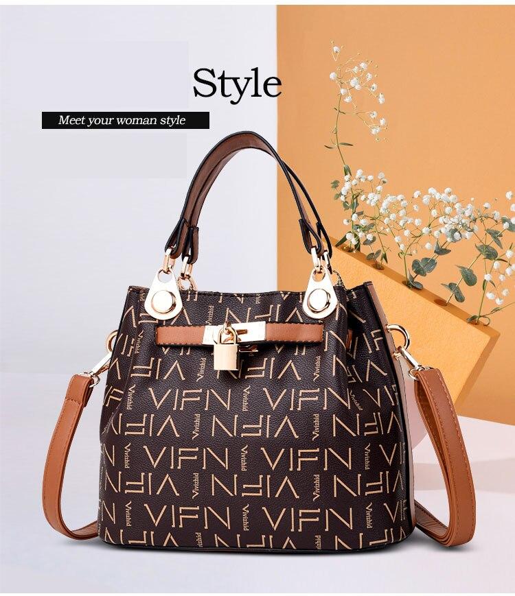 16fc006188 VOLESS Luxury Handbags Women Bag Designer Vintage High Quality PU ...