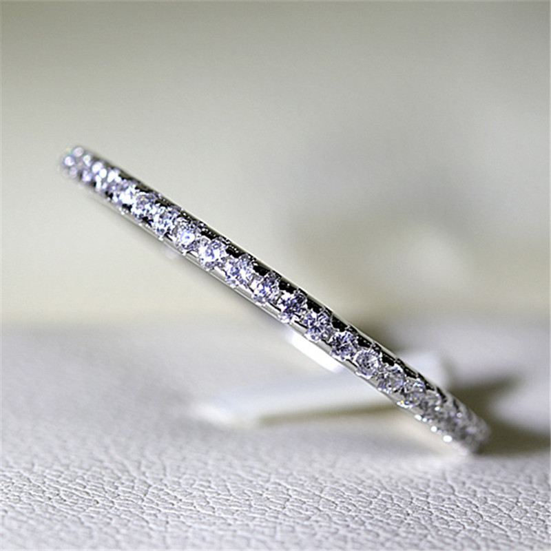 CC Rings For Women S925 Bridal Wedding Jewelry Engagement Party Ring White Gold-Color Silver Plated Drop Shipping Anel CC709 3
