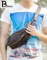 Nova Alta qualidade PU de Couro Pacote de Peito Casuais Sacos Casuais Cross-corpo saco do Mensageiro dos homens de Moda Bolsa de Ombro Móvel Pacote de telefone