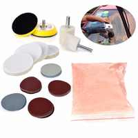 34pcs Mayitr Glass Polishing Kit Deep Scratch Remover 8 OZ 230 g Cerium Oxide Powder and Polishing Pads Sanding Disc 50mm/2