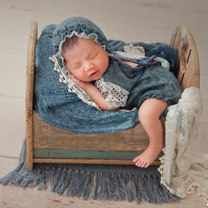 Image 1 - Ylsteed 2Pcs סט אבזרי יילוד תינוקות ירי תלבושות תינוק ילד ילדה תחרה בגדי תינוק אבזרי צילום יילוד מקלחת מתנה