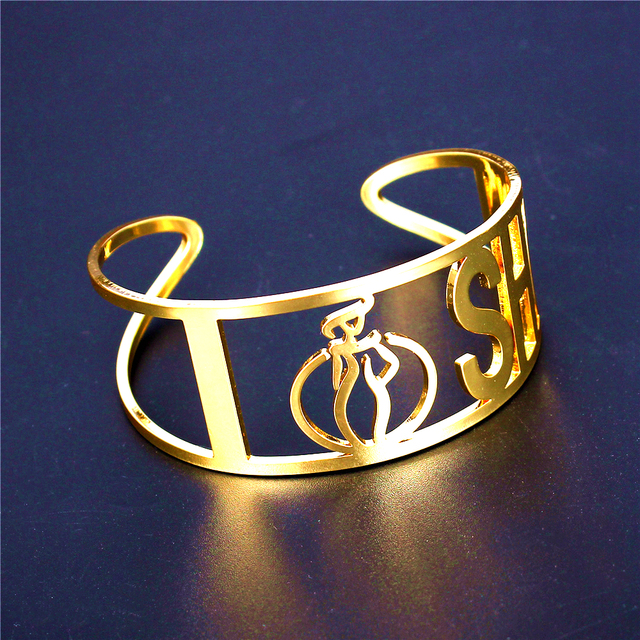 I SHOW 5 Style  Gold Plated Woman Cuff Bangles Woman Copper Bracelet Adjustable Punk  Cuff Wholesale Pulseras mujer
