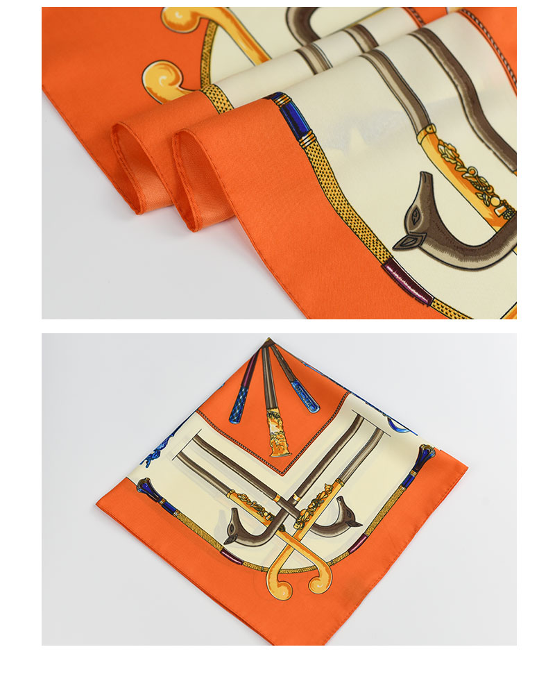 Small Silk Scarf Gold Stick | Lightweight Scarves | Up to 60% Off Now