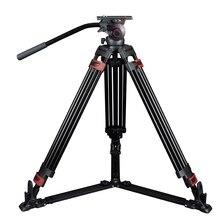 MTT609A Profissional Da Liga de Alumínio Max 170 cm 15 KG de Carga Câmera Flexível Tripé para Filmadora/Vídeo DSLR Camera com carreg o saco