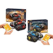 Приложение интерактивная игрушка автомобиль Программирование игрушки инженер гранулированный строительные блоки отслеживаемый контроль внедорожный автомобиль подарок для ребенка 2