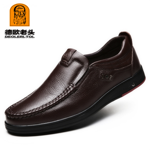 Image 2 - 2020 Newly Mens Genuine Leather Shoes Size 38 47 Head Leather Soft Anti slip Driving Shoes Man Spring Leather Shoes