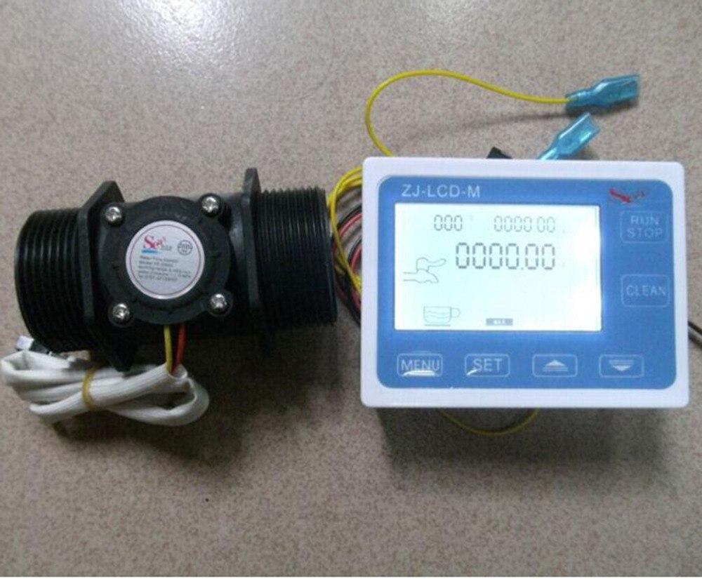 1.5 Flow Water Sensor Meter+Digital LCD Display control 1-120L/min