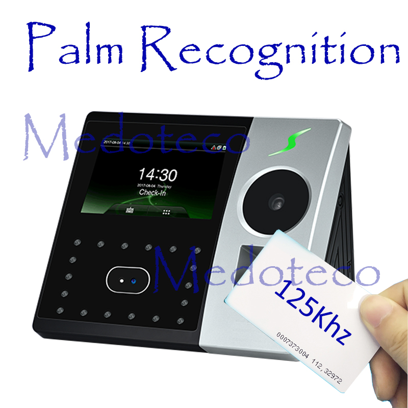 New Palm Time Attendance Employee Hybird Biometric Electronic Attendance Face & Fingerprint Time Recorder Free Software Rfid