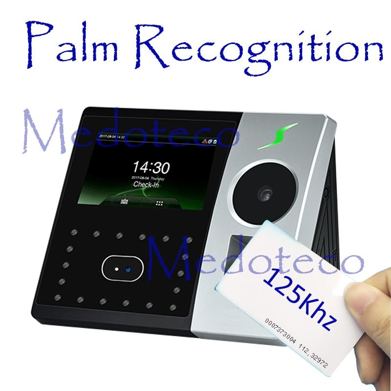 New Palm Time Attendance Employee Hybird Biometric Electronic Attendance Face & Fingerprint Time Recorder Free Software Rfid