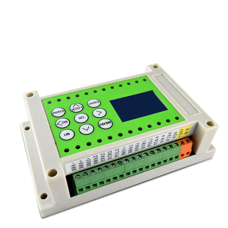 Step servo controller stepper motor controller 4 in 2 high-speed pulse  output simple PLC one machine