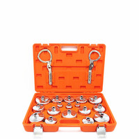High quality 19pcs cap filter spanner oil grille ball head machine element disassembly assembly set wrench socket organizer