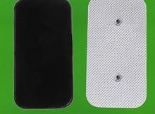 40 peças (10 conjuntos) almofadas de eletrodos para substituição, reutilizáveis, adesivas para estimulador muscular sem fio de tens/ems compex, 3.9mm de haste