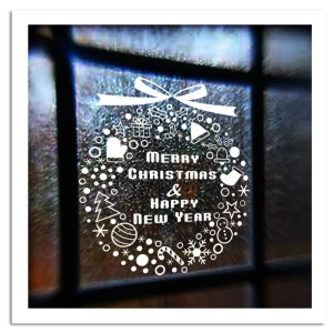 % New Year Window Glass PVC Wall Sticker Christmas Gift Snowflake Campanula Tree Home Decal Merry Christmas Decor Home Supplies(China)