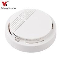 High Sensitivity Wireless Photoelectric Smoke Detector Fire Alarm Sensor For Home Security Independent Smoke Sensor White