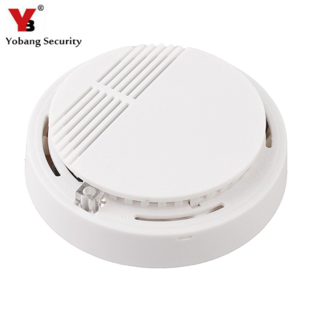 цена на YobangSecurity High Sensitivity Photoelectric Smoke Detector Fire Alarm Sensor for Home Security Independent Smoke Sensor White