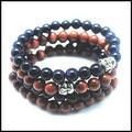 2016 new designs golden sand stone blue sand stone beads bracelets for men's bracelet women's bracelets size 8mm wholesale price
