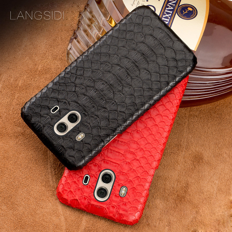 wangcangli mobile phone shell For Huawei Mate 10 mobile phone case advanced custom natural python skin Leather Casewangcangli mobile phone shell For Huawei Mate 10 mobile phone case advanced custom natural python skin Leather Case