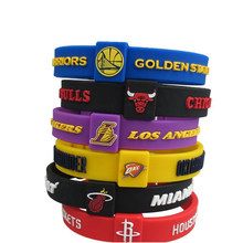 2018 Whole Favorite Basketball Team Sports Wristbands Silicone Fitness Size Can Adjule Wristband Energy Bracelets
