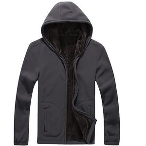 Image 2 - Mountainskin 7XL Winter Mens Jackets Thick Fleece Hooded Hoodies Men Sweatshirt Solid Casual Male Coats Brand Clothing SA116