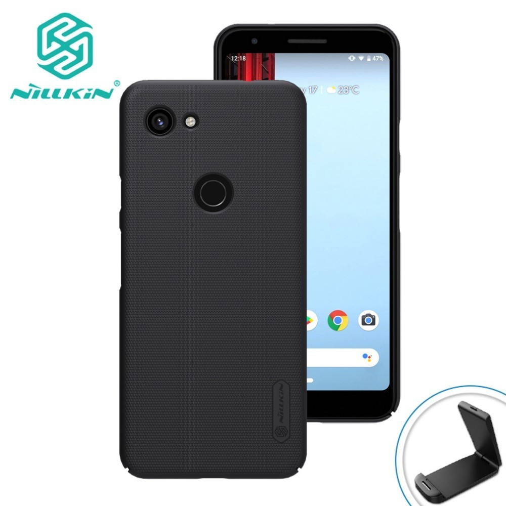 For Google Pixel 3a Phone Case NILLKIN Matte Frosted Shield Back Cover For Google Pixel 3a XL Case with phone holderFor Google Pixel 3a Phone Case NILLKIN Matte Frosted Shield Back Cover For Google Pixel 3a XL Case with phone holder