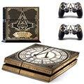 Этикеты винила Защитный Кожного Покрова Наклейка для Sony PS4 Консоли И 2 Контроллера Dualshock-Assassins Creed Синдиката