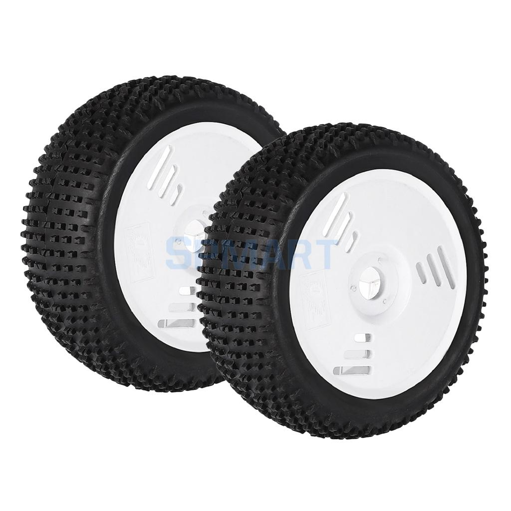 2 Pieces 1:8 RC Truggy Off-Road Car Tyre Tire Wheel Rim for HONGNOR VP-PRO ZDRacing HPI HSP Refit Parts 4pcs aluminum alloy 52 26mm tire hub wheel rim for 1 10 rc on road run flat car hsp hpi traxxas tamiya kyosho 1 10 drift parts