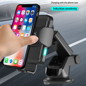 Image 4 - wireless car charger for iphonex xs automatic induction qi wireless car holder for samsung s8 s9 rotatable car charger bracket