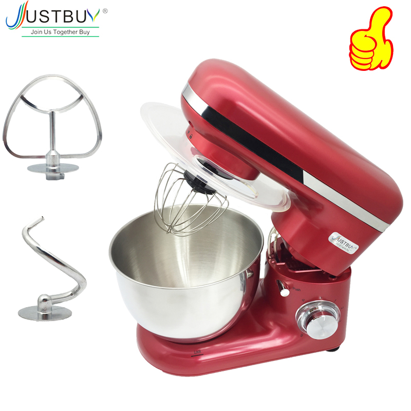 1500W 4L Stainless Steel Bowl 6-speed Kitchen Food Stand Mixer Cream Egg Whisk Blender Cake Dough Bread Mixer Maker Machine
