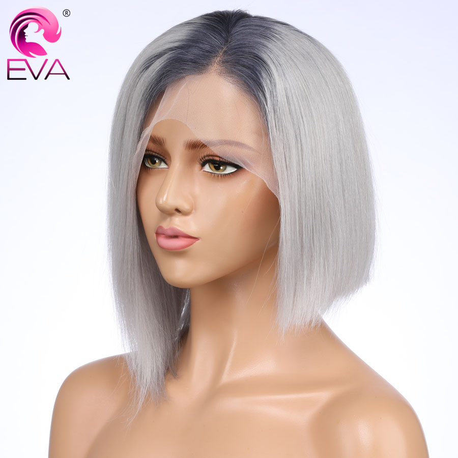 Glueless Short Full Lace Human Hair Bob Wigs With Baby Hair Pre Plucked Hairline Straight Brazilian Remy Hair Eva Hair 8