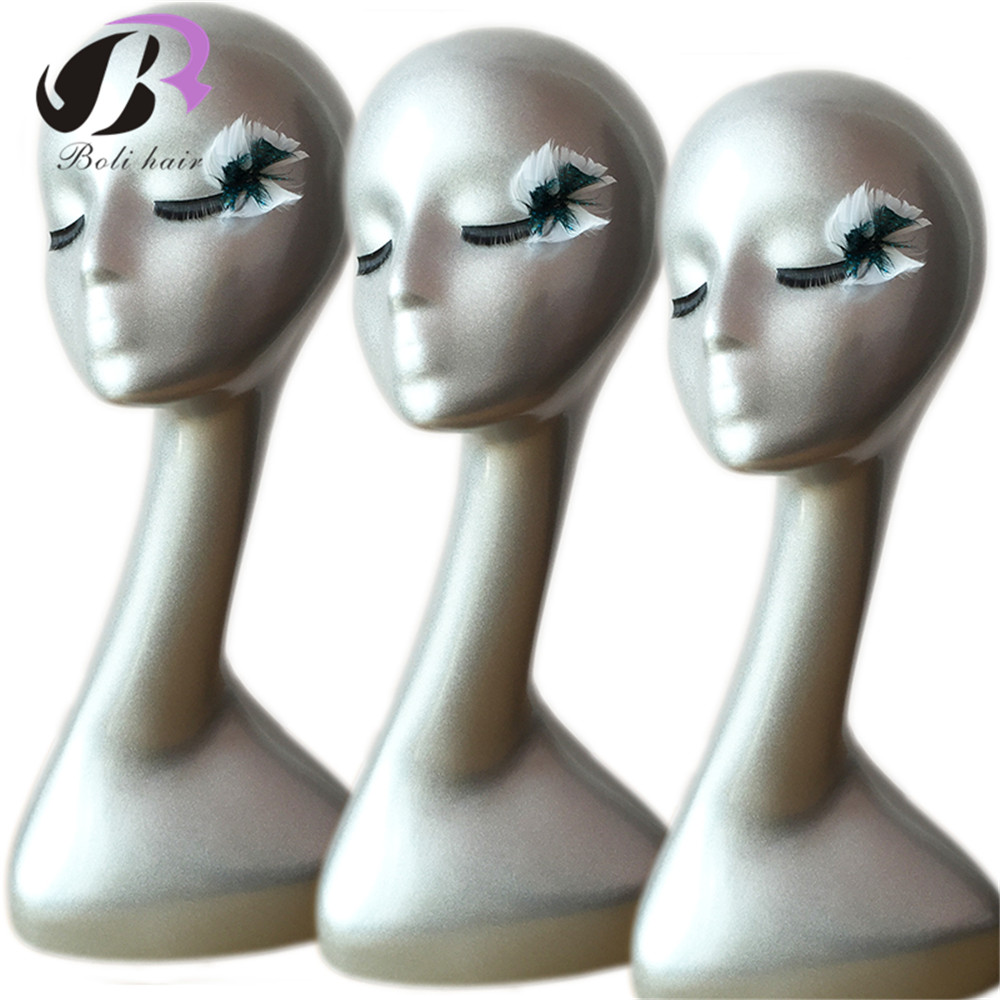 Free Shipping! Female Mannequin Head ABS Slivery Mannequin Head Display For Wig /Hat / Necklace/ Cap Wig Display Stand Head