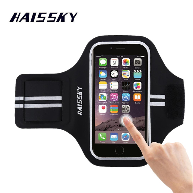 pretty nice 418ab 9a81c HAISSKY Sport Running Armband Case For iPhone X Xs Max 8 7 Plus 6 6s Xiaomi  pocophone f1 oneplus 6 Huawei P20 lite Pro Arm band