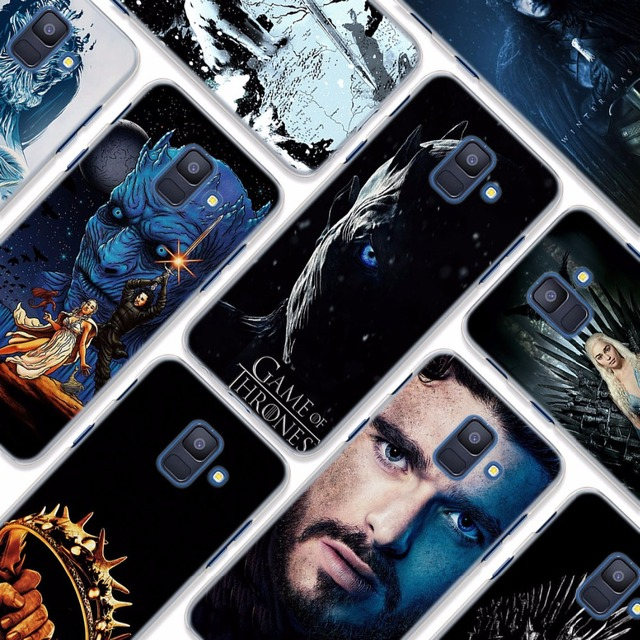 for Galaxy A8+ case Game of Throne poster style clear frame hard back Case cover for Samsung A6 A6+ A8 A8+ 2018 A3 A5 A7 2017