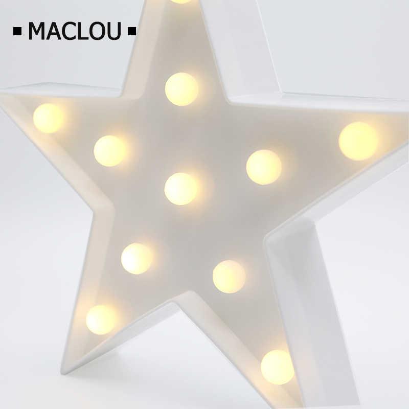 3D дети батарея ночник светодиодный 3D настольная лампа письмо настольная лампа батарея любовь звезда кокосовое дерево Фламинго светодиодное украшение