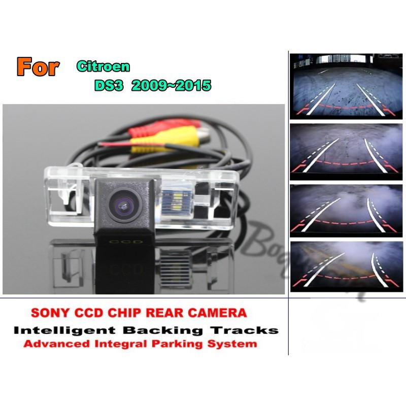 Car Intelligent Parking Tracks Camera / HD Back up Reverse Camera / Rear View Camera For Citroen DS3 DS 3 2009~2015