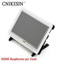 High Quanlity Raspberries Pie 5 Inch Resistive Screen Raspberry Pi B 5 Inch HDMI LCD Shell