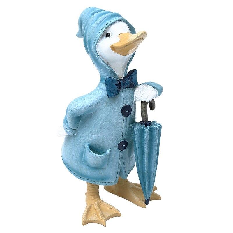Modern Nordic Duck Figurines Home Resin Animal Figures Ornament Artesanato Knutselen Exquisite Home Decorations Cute Fairy Craft figurine