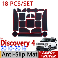 for Land Rover Discovery 4 Anti Slip Rubber Cup Cushion Door Mat 18pcs LR4 2010 2011 2013 2015 Accessories Car Styling Sticker