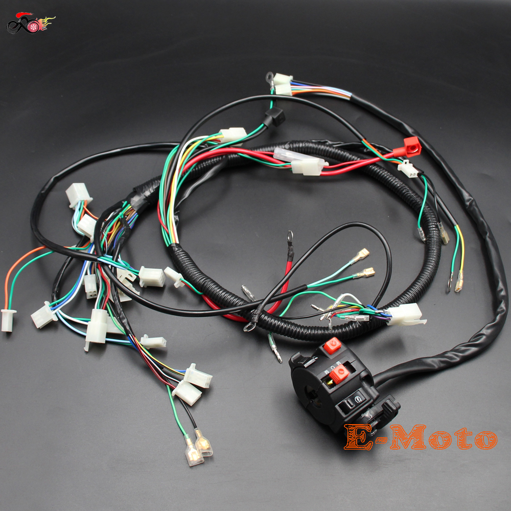 WIRE LOOM WIRING HARNESS Multi functiona Switch 150cc 200cc 250cc ...