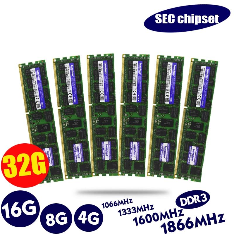 Original 8GB DDR3 1333MHz 1600Mhz 1866Mhz 8G 1333 1600 1866 REG ECC Server Memory RAM 16gb 16g 32gb 32g X58 X79 2011 4GB 4G ECC