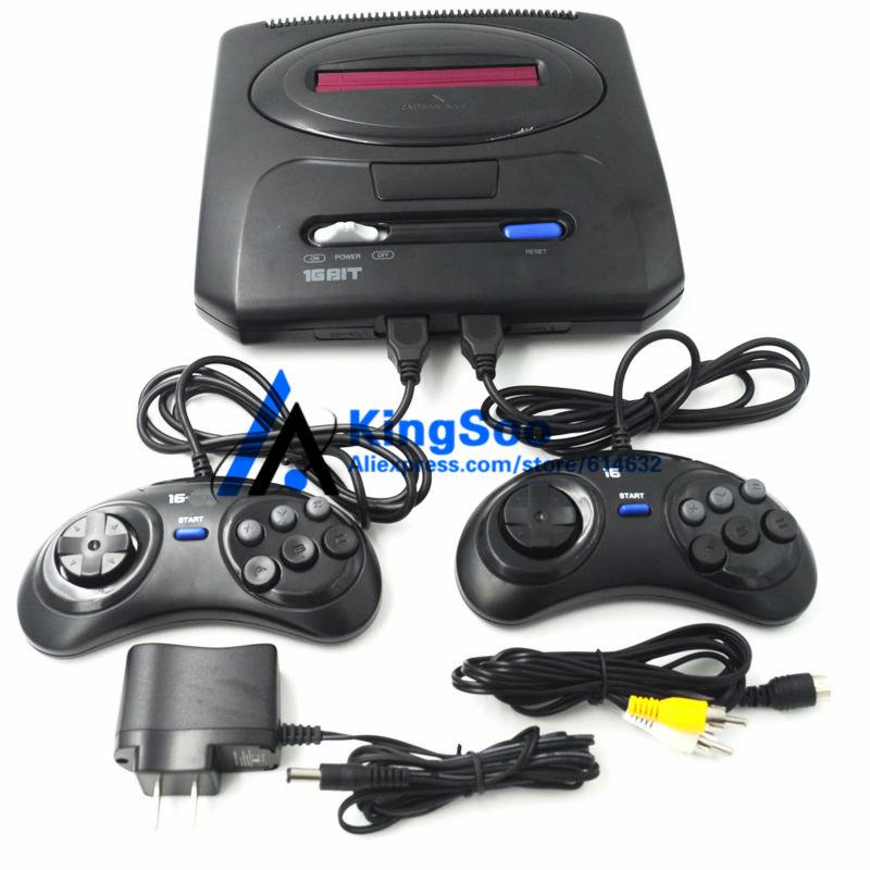 Export Russia Full screen 16bit Sega Mega Drive 2 MD2 Video TV Game Console NTSC output bluetooth